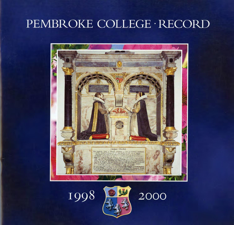 Pembroke College Record (Oxford), 1998-2000 by Pembroke College