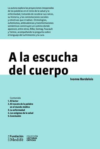 96b9b5b77 A la escucha del cuerpo by Fundación Medifé Edita - issuu