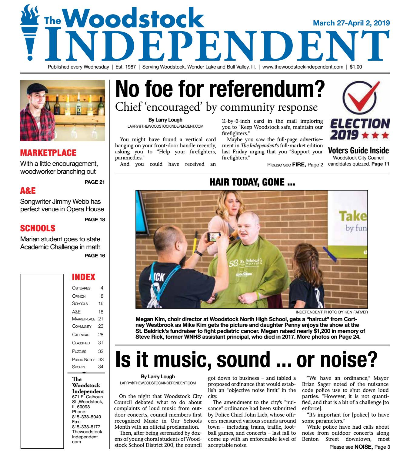 Woodstock Independent 3/27/19 by Woodstock Independent - issuu on