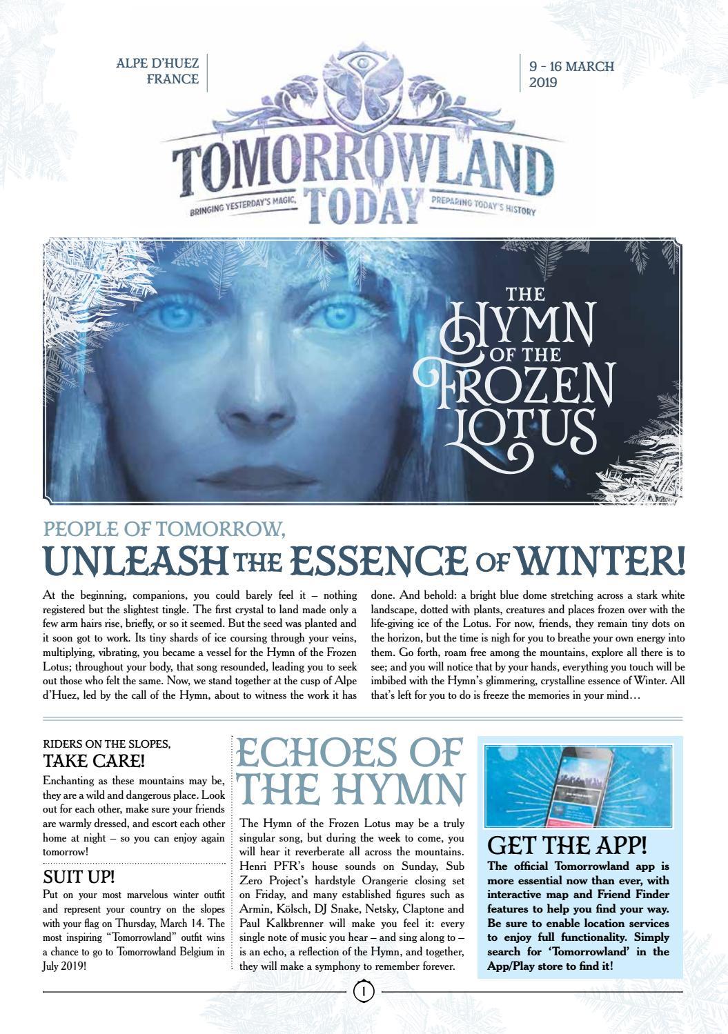 Tomorrowland Today – Winter 2019 – Edition 1 by Tomorrowland - issuu