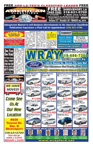American Classifieds Shreveport, LA  March 28th, 2019 by