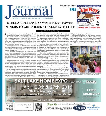 69bacb4801486b South Jordan Journal April 2019 by My City Journals - issuu