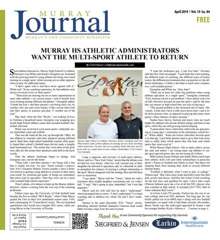 Murray Journal April 2019 by The City Journals - issuu