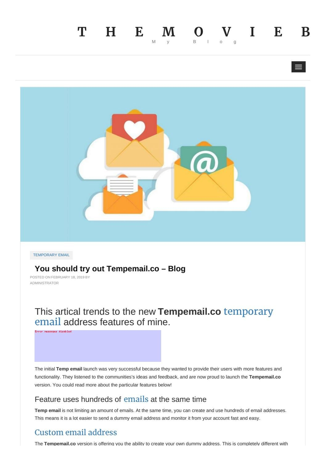You should try out Tempemail co – Blog