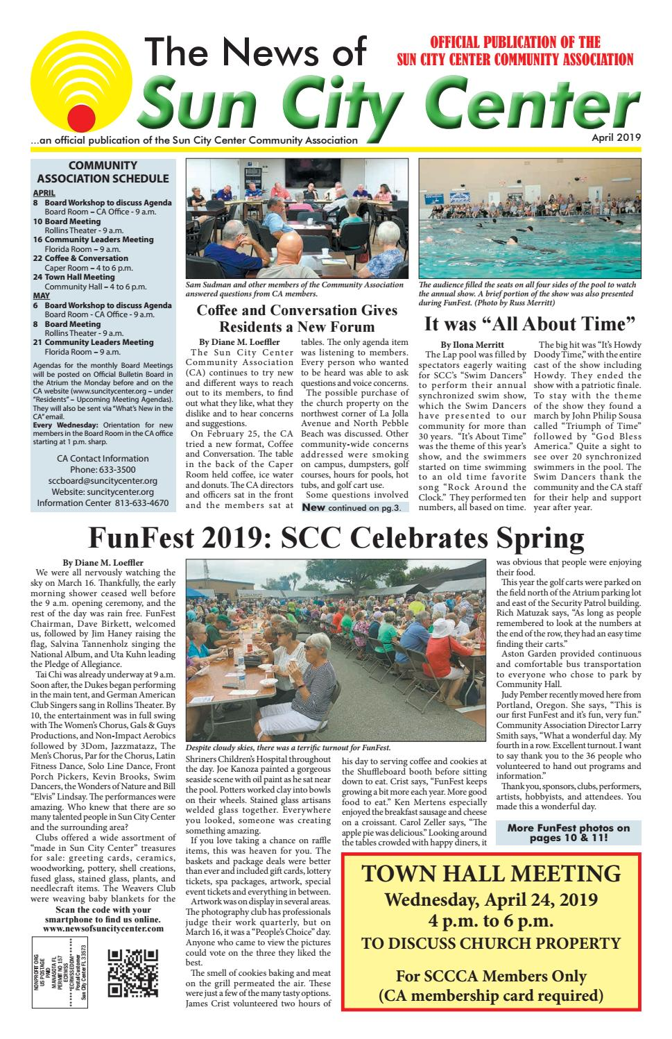 6d010766f News of Sun City Center April 2019 by The News of Sun City Center & South  County - issuu