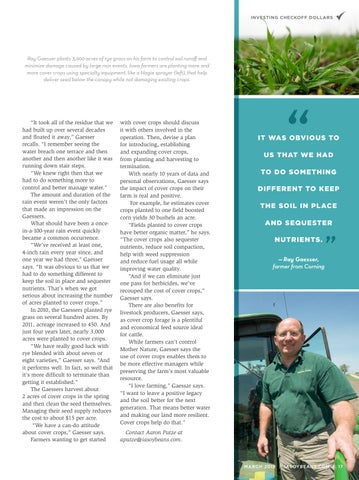 Page 17 of Cover Control: A 4-inch rain in 60 minutes made Corning farmer a believer in cover crops