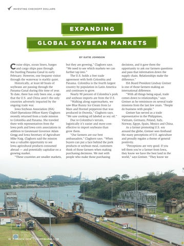 Page 18 of Expanding Global Soybean Markets