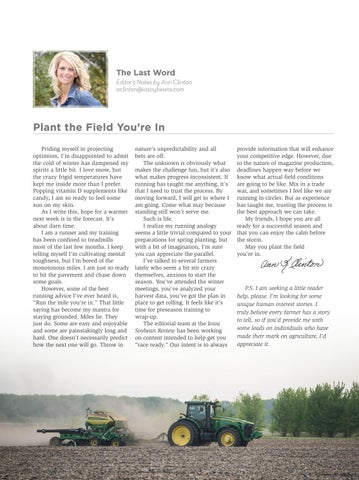 Page 27 of The Last Word: Plant the Field You're In