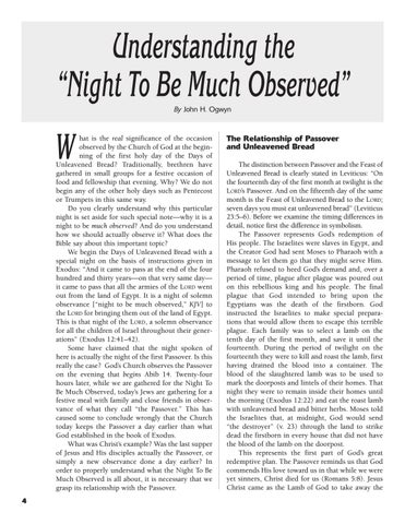 Understanding the Night to be Much Observed