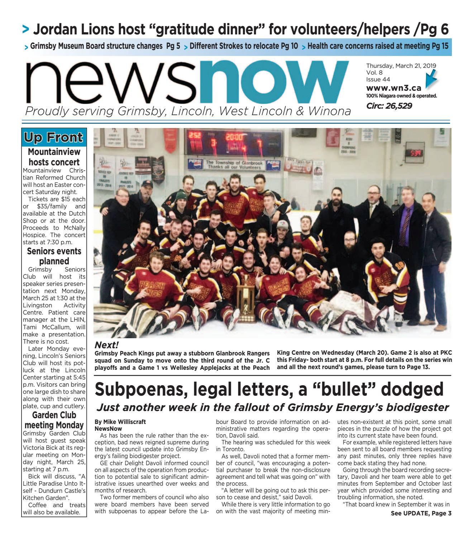 67e218f2692 NewsNow E-Edition March 21 2019 by newsnow Niagara - issuu