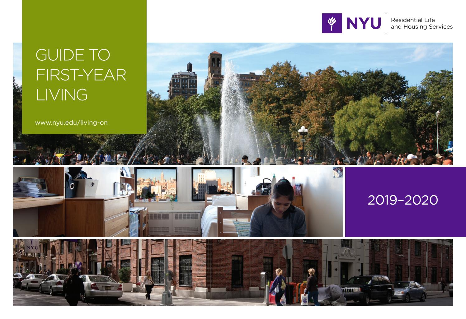 Guide to First-Year Living 2019-2020 by NYU-RLHS - issuu