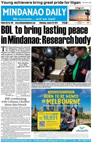 Mindanao Daily (January 23, 2019) by Mindanao Daily News - issuu