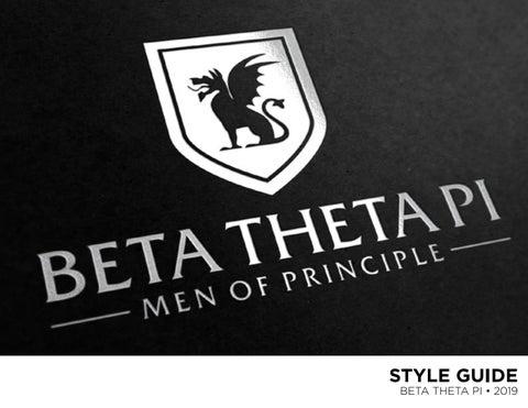 b182f3035f Beta Theta Pi Style Guide 2019 by Beta Theta Pi - issuu