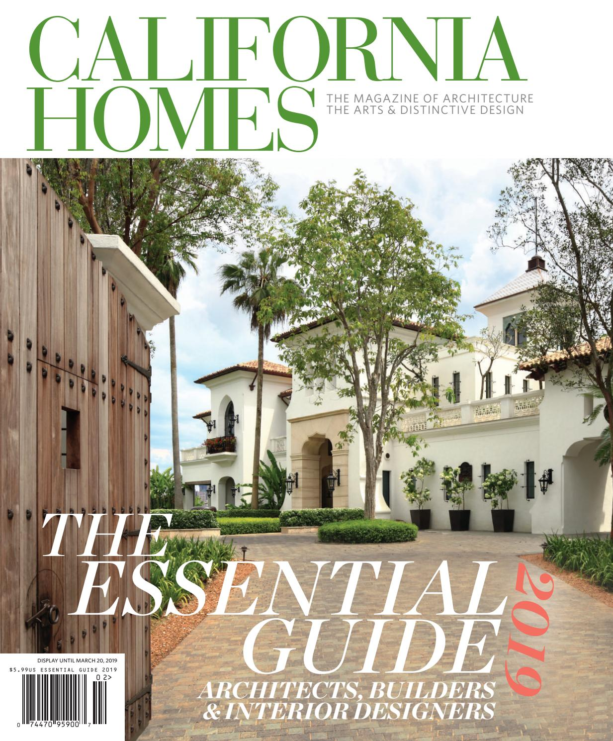 California homes the essential guide to architects builders and interior designers 2019 by california homes magazine issuu
