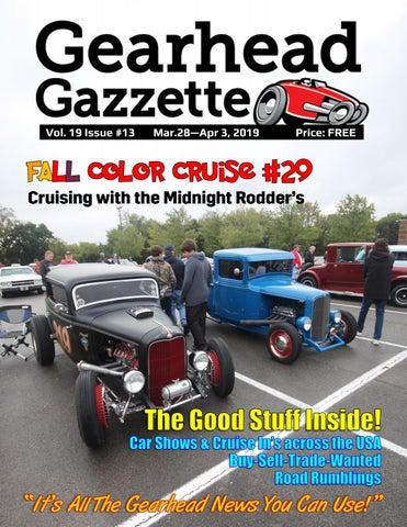 620421bf Gearhead Gazzette Vol. 19 Issue #13 Mar 28 - Apr 3, 2019 by Jimmy B ...