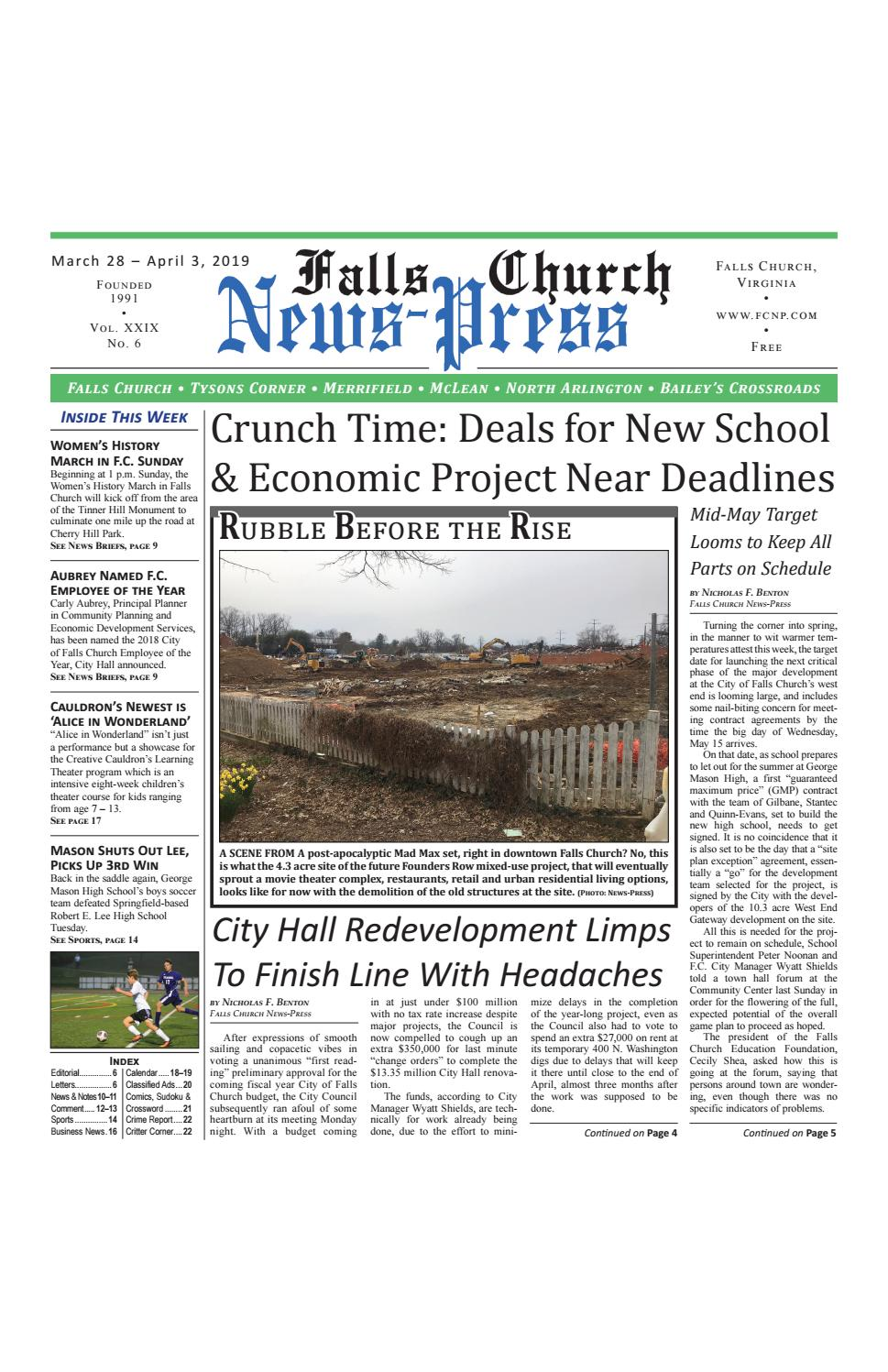 Falls Church News-Press 3-28-2019 by Falls Church News-Press