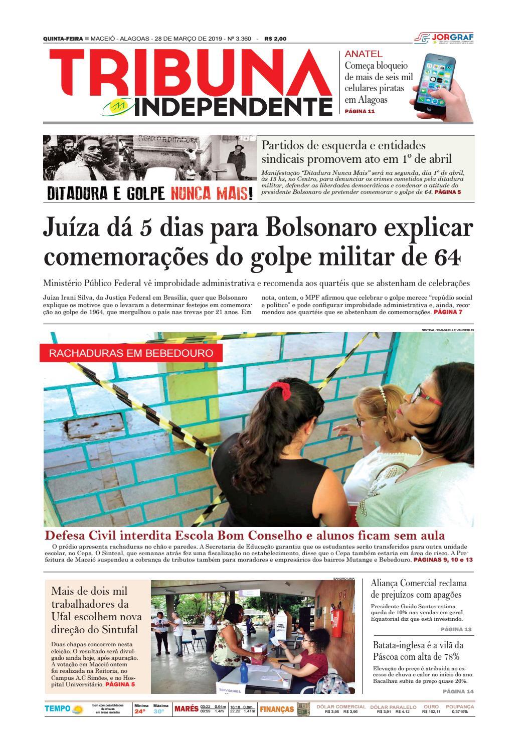 17db25410e4a5 Edição número 3360 – 28 de março de 2019 by Tribuna Hoje - issuu