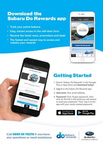 Subaru Do Rewards App Flyer by Smart Loyalty - issuu