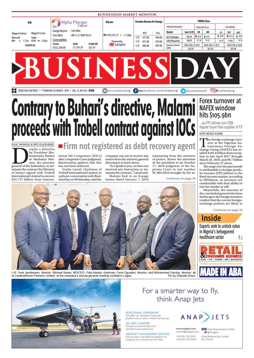BusinessDay 28 Mar 2019 by BusinessDay - issuu