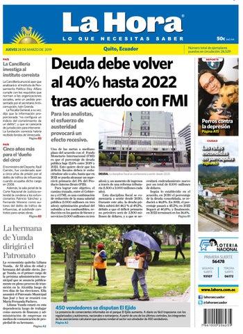 36ed48b6 Quito 28 de marzo de 2019 by Diario La Hora Ecuador - issuu