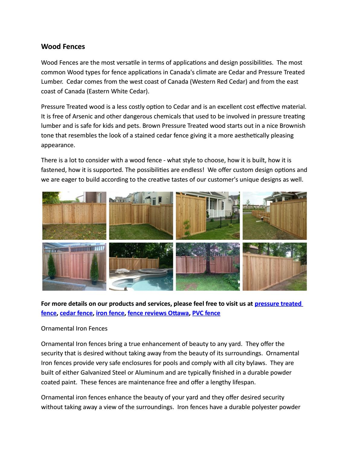 Wood Fences by fencescape02 - issuu