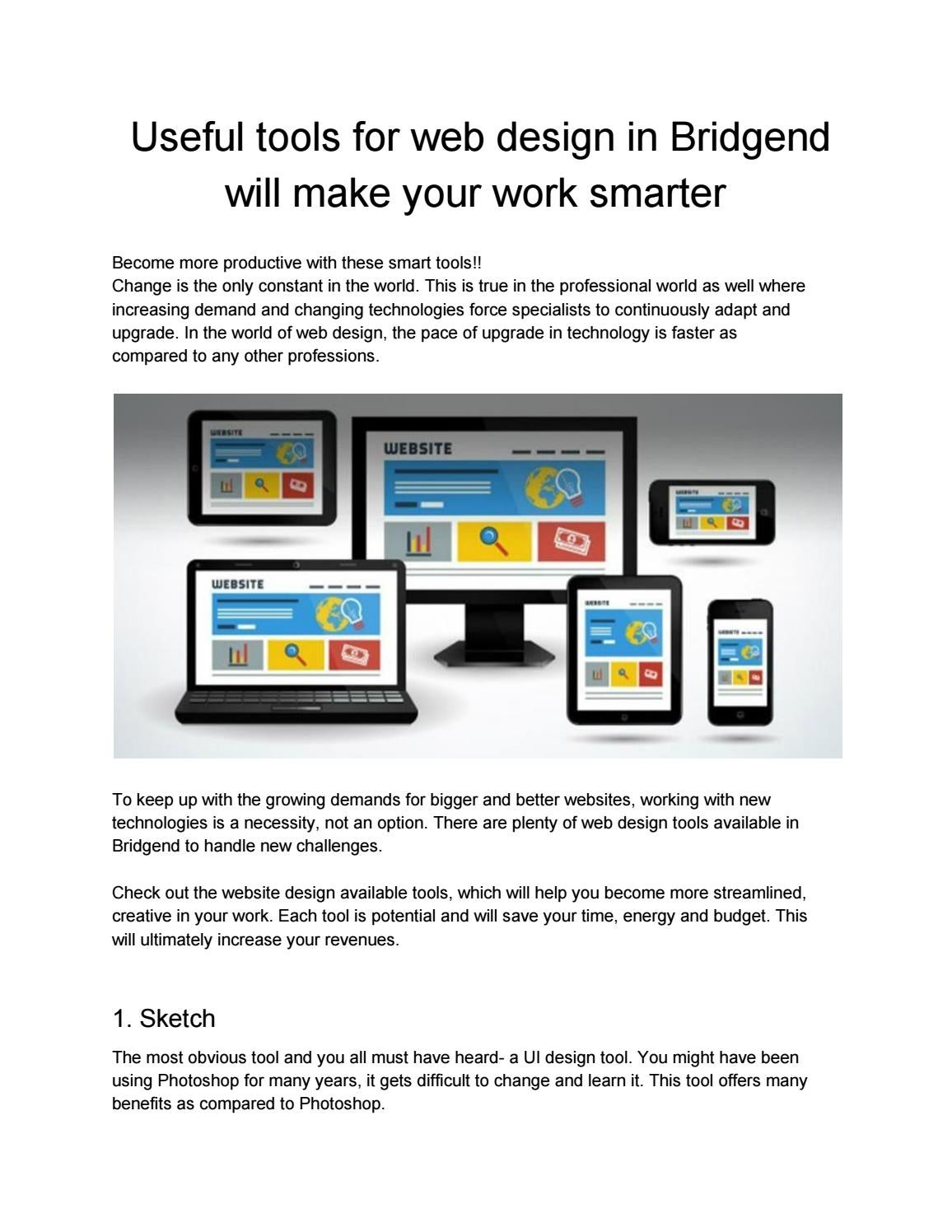 Useful Tools For Web Design In Bridgend Will Make Your Work Smarter By Stablesamy26 Issuu