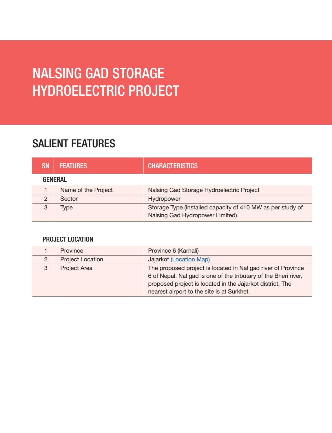 Nalsing Gad Storage Hydroelectric Project by Nepal
