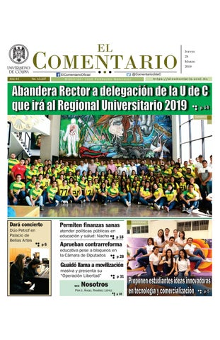 12474fc7ccd Edición del jueves by elcomentario2019 - issuu