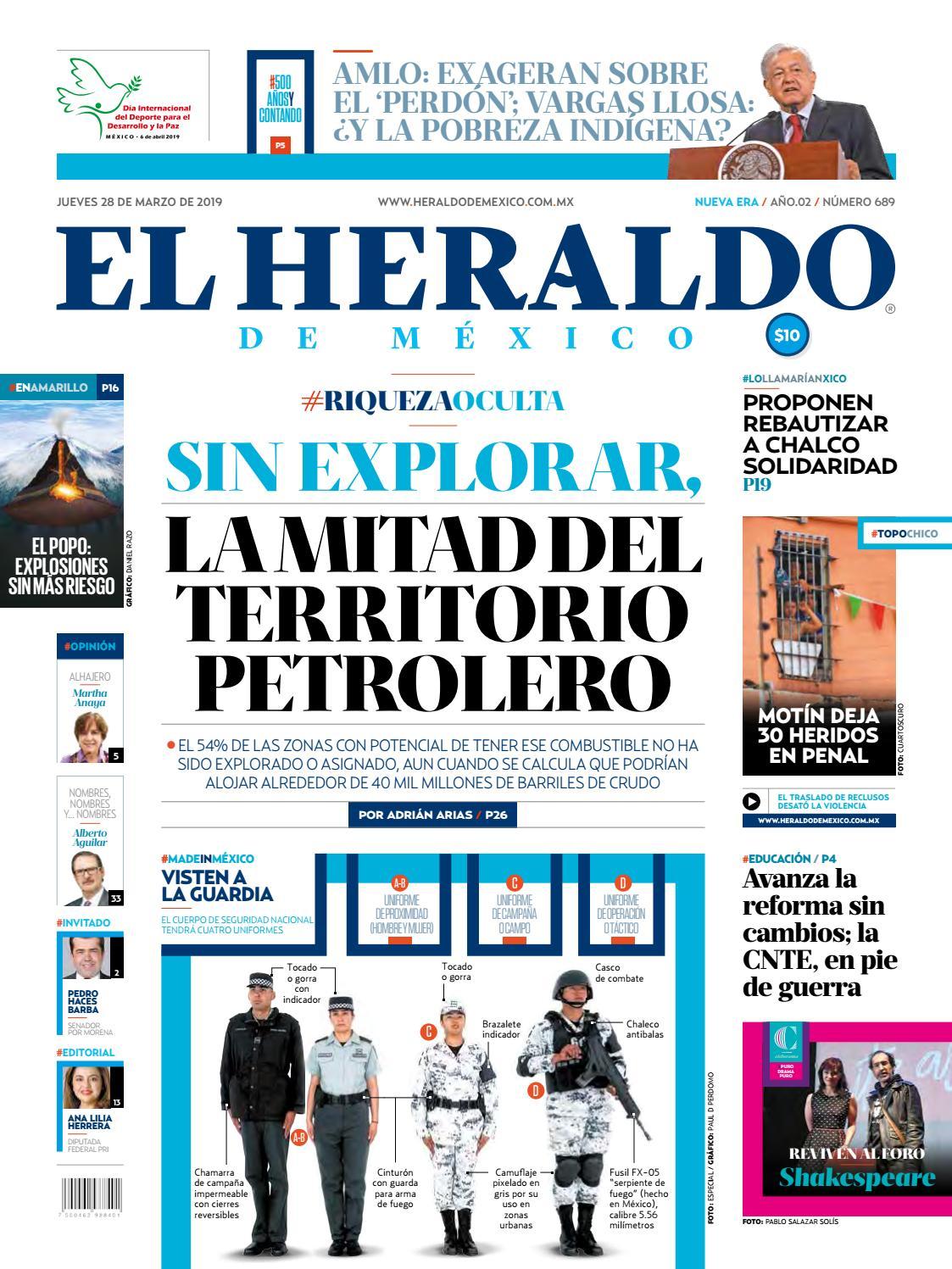 6728a5c96 Jueves 28 de marzo de 2019 by El Heraldo de México - issuu