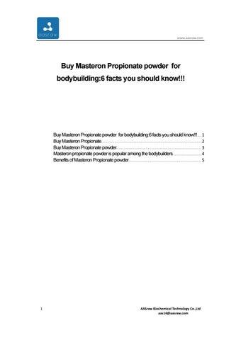 Buy Masteron Propionate powder for bodybuilding:6 facts you should