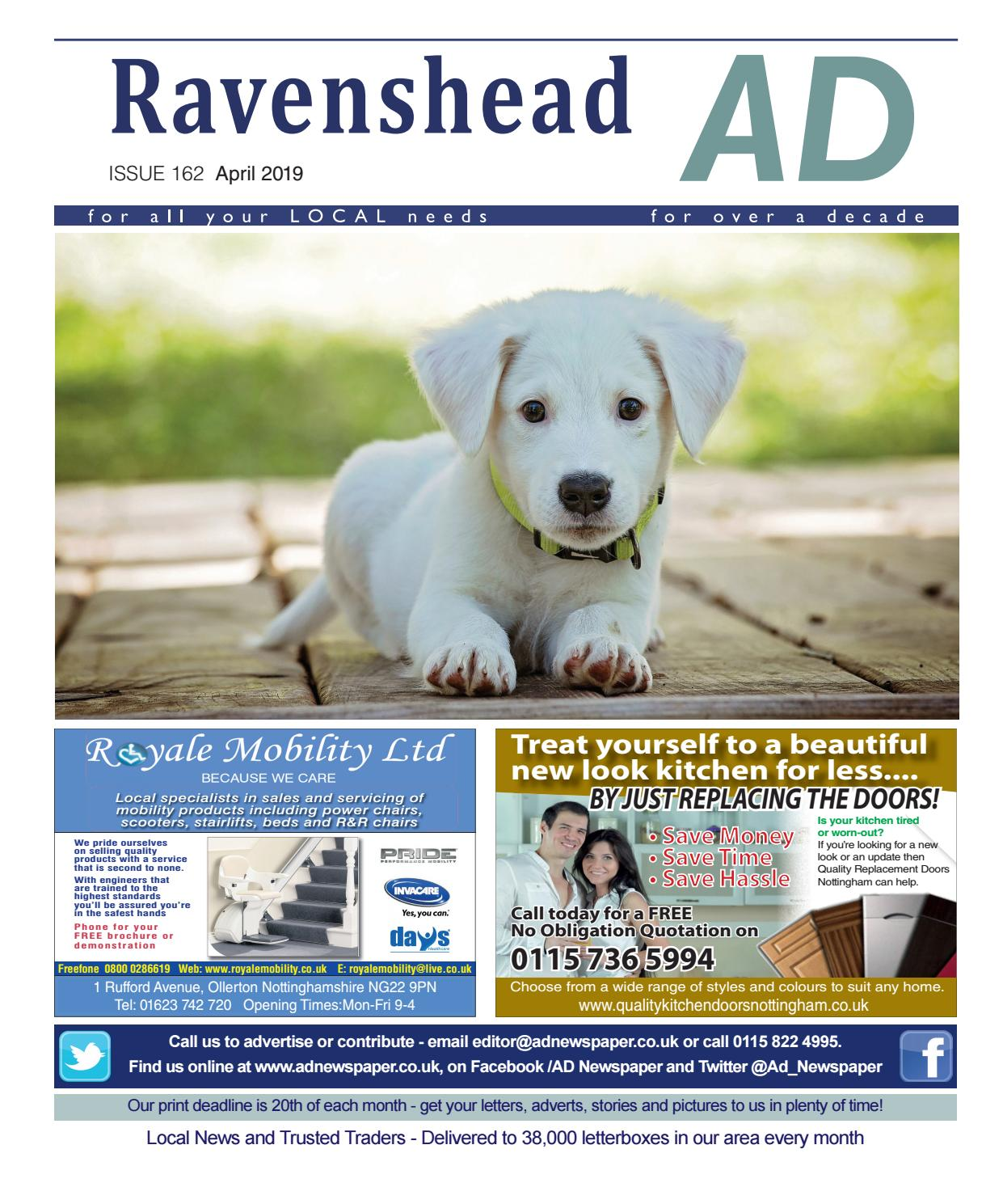 Ad Newspaper for Ravenshead, Mansfield, Nottingham April