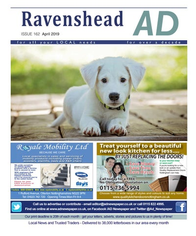 Ad Newspaper for Ravenshead, Mansfield, Nottingham April 2019 by