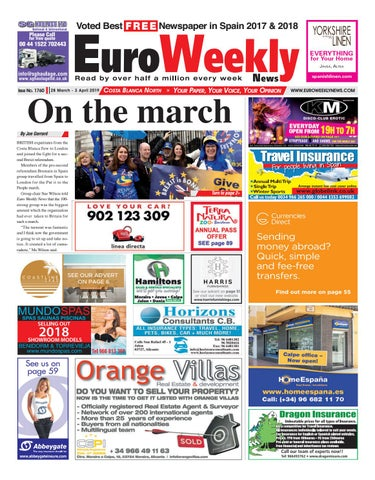 12c7fd169e482 Euro Weekly News - Costa Blanca North 28 March - 3 April 2019 Issue ...