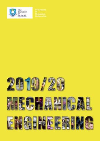 2019/20 Undergraduate Brochure: Mechanical Engineering at