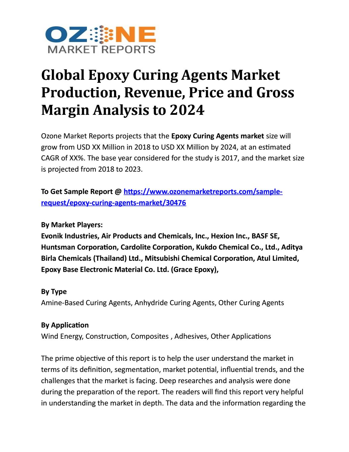Global Epoxy Curing Agents Market Production, Revenue, Price