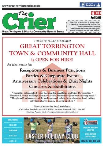 torrington crier april 2019 by the torrington crier issuu rh issuu com