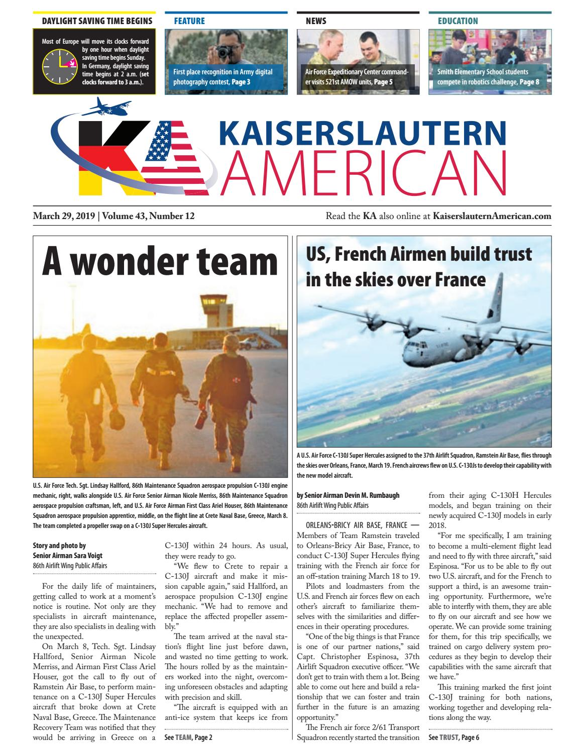 Kaiserslautern American, March 29, 2019 by AdvantiPro GmbH - issuu