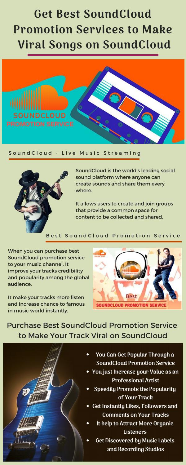 Get Best SoundCloud Promotion Services to Make Viral Songs