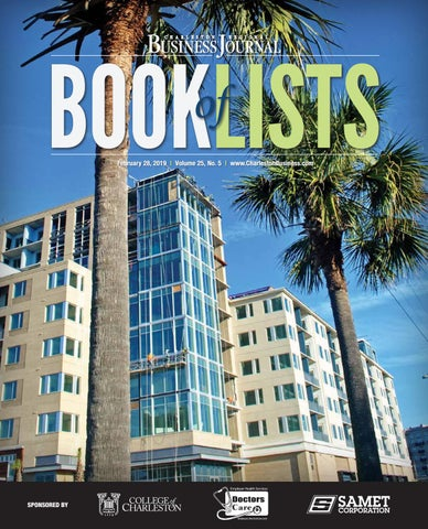 2019 Charleston Book of Lists by SC BIZ News - issuu