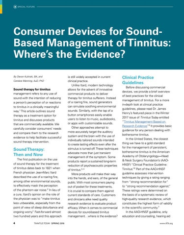 Page 6 of Consumer Devices for Sound-Based Management of Tinnitus: Where's the Evidence?