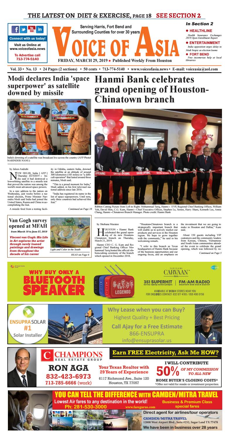 Voice of Asia E-paper March 29, 2019 by VoiceOf Asia - issuu