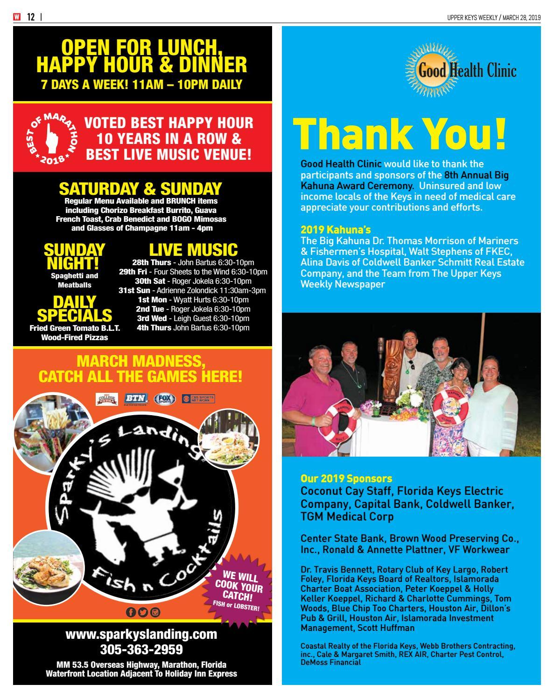 Upper Keys Weekly – 3/28/19 by Keys Weekly Newspapers - issuu