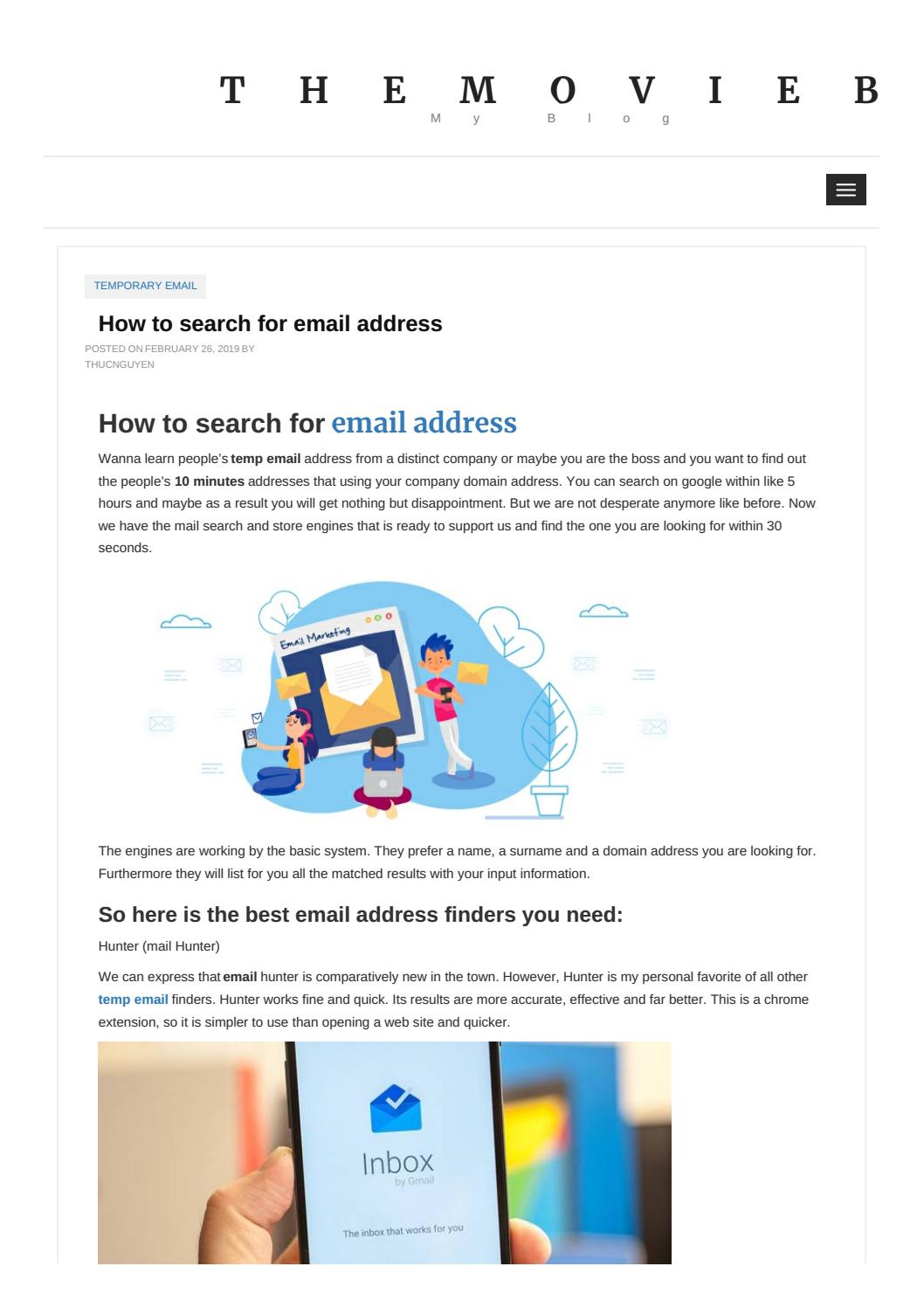 How to search for email address by tempemail172 - issuu