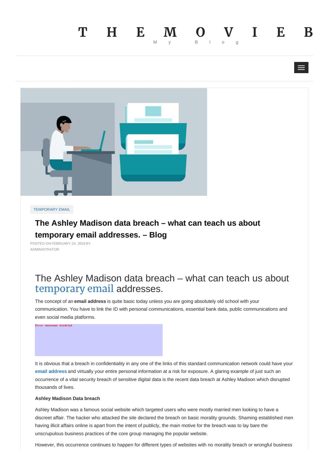 The Ashley Madison Data Breach What Can Teach Us About