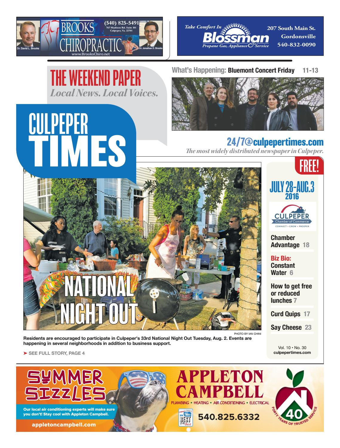 July 28th, 2016 -- Culpeper Times by InsideNoVa - issuu