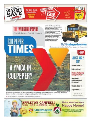 July 27th, 2017 -- Culpeper Times by InsideNoVa - issuu