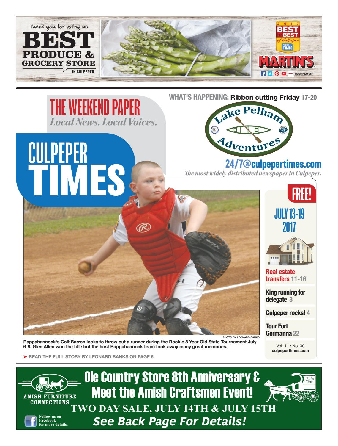 July 13th, 2017 -- Culpeper Times by InsideNoVa - issuu