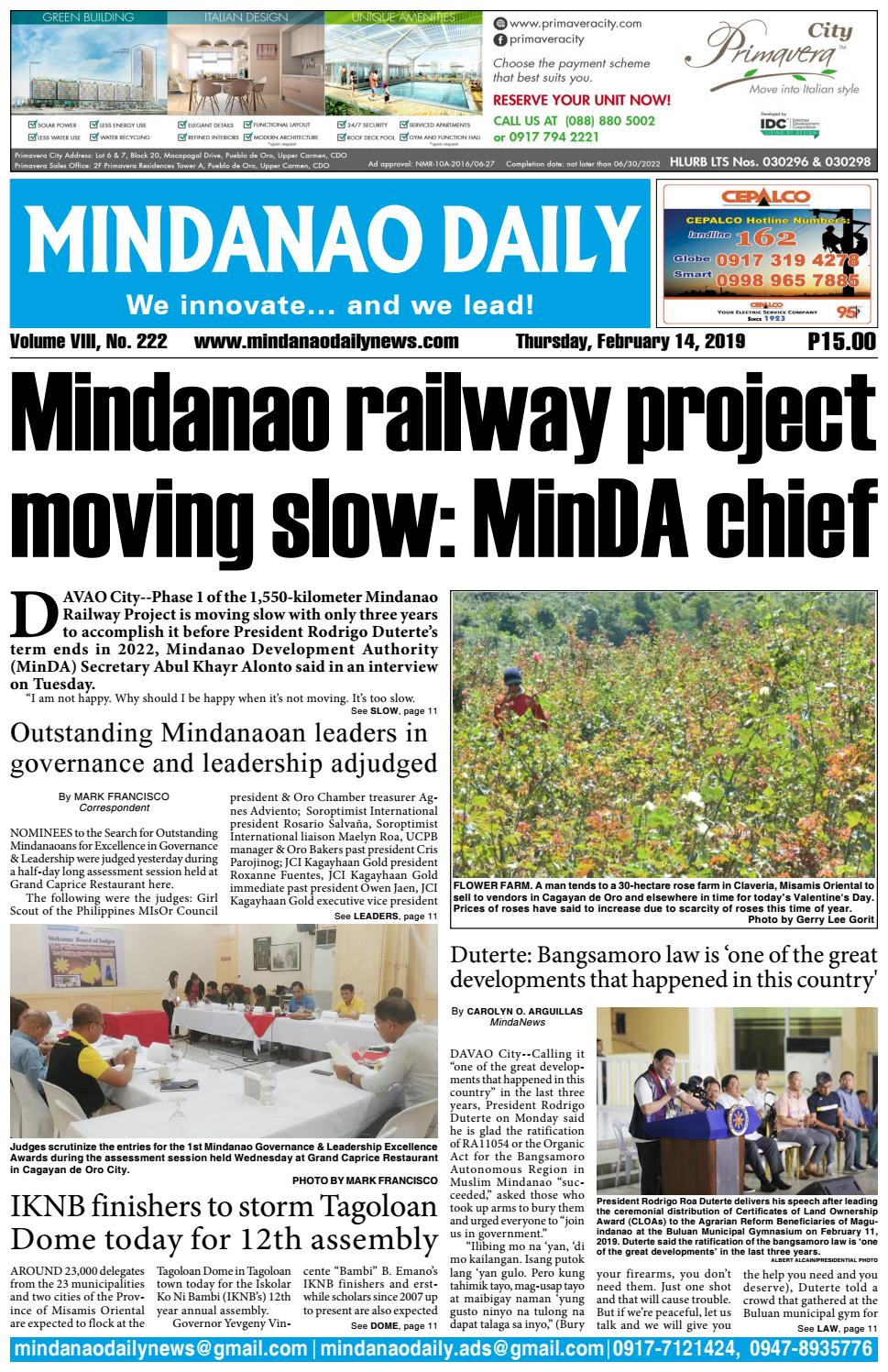 Mindanao Daily (February 14, 2019) by Mindanao Daily News - issuu