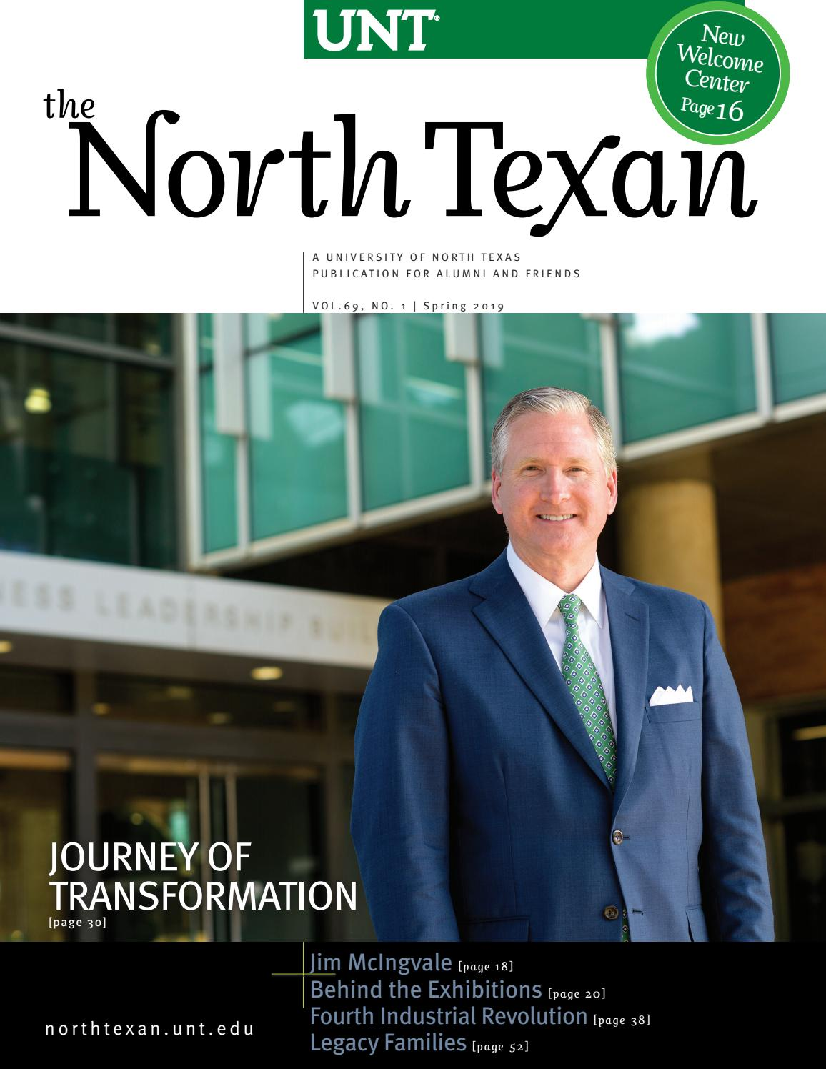 1e8403148ef8a3 The North Texan - UNT Alumni Magazine - Spring 2019 by University of North  Texas - issuu