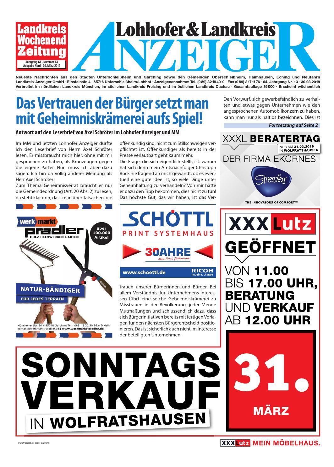 c55d3585c0c25 Lohhofer   Landkreis Anzeiger 13 19 by Zimmermann GmbH Druck   Verlag -  issuu